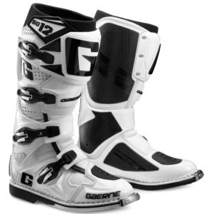 GAERNE SG12 MOTOCROSS ENDURO MX BOOTS WHITE offroad trail bike NEW RRP £480'