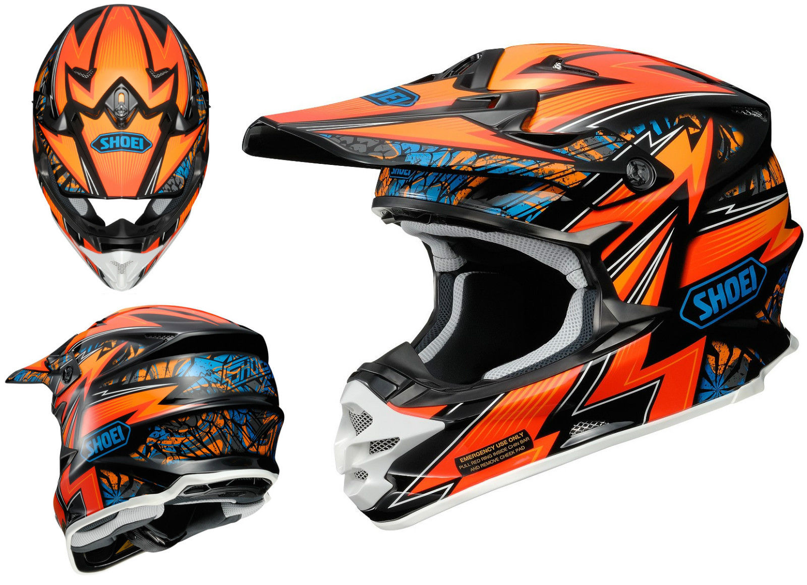 shoei vfx w motocross mx helmet maelstrom tc 8 orange. Black Bedroom Furniture Sets. Home Design Ideas