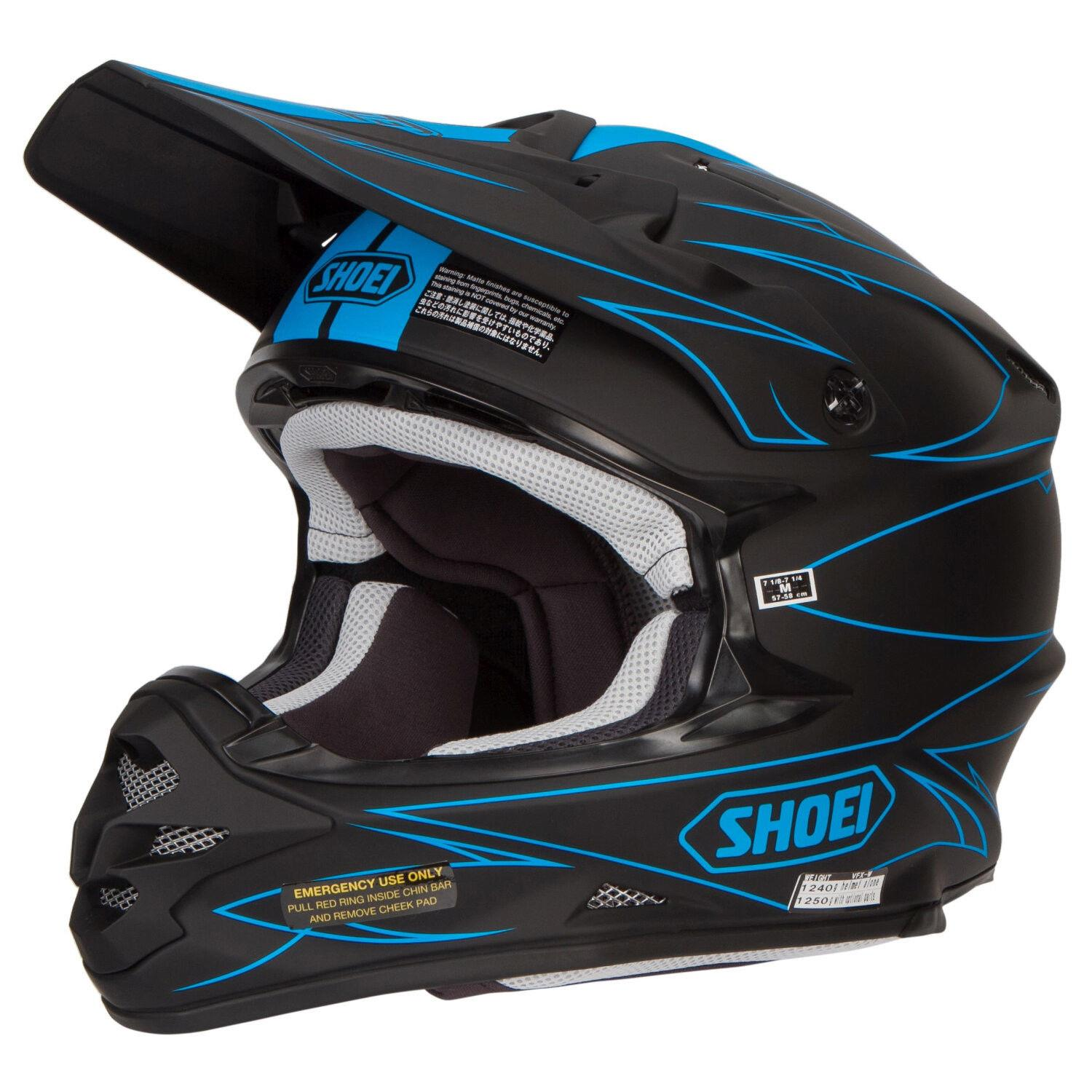 shoei vfx w motocross mx helmet hectic tc 2 matte black blue matt gardiner motocross. Black Bedroom Furniture Sets. Home Design Ideas