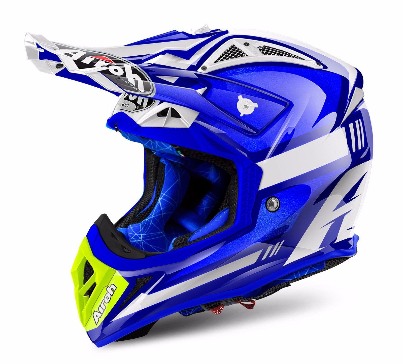 airoh aviator 2 2 cairoli ottabiano blue motocross mx helmet matt gardiner motocross. Black Bedroom Furniture Sets. Home Design Ideas