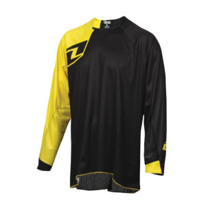 'ONE INDUSTRIES VAPOR SOLID BLACK / YELLOW MOTOCROSS MX MTB BIKE CYCLE JERSEY'