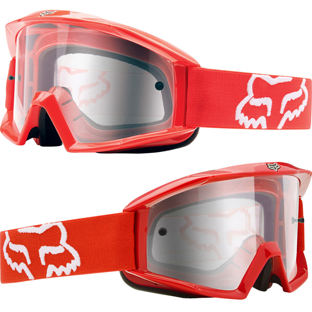 reliable quality quality products footwear FOX MAIN MOTOCROSS MX GOGGLES RED clear tear-off enduro mtb bmx bike new