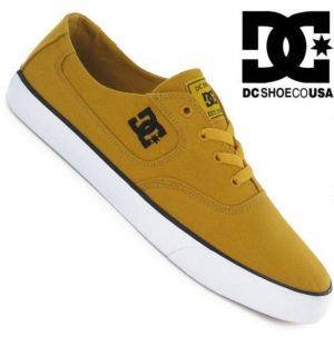 DC SHOES mens FLASH TX trainers RED BLUE RB3 canvas skate