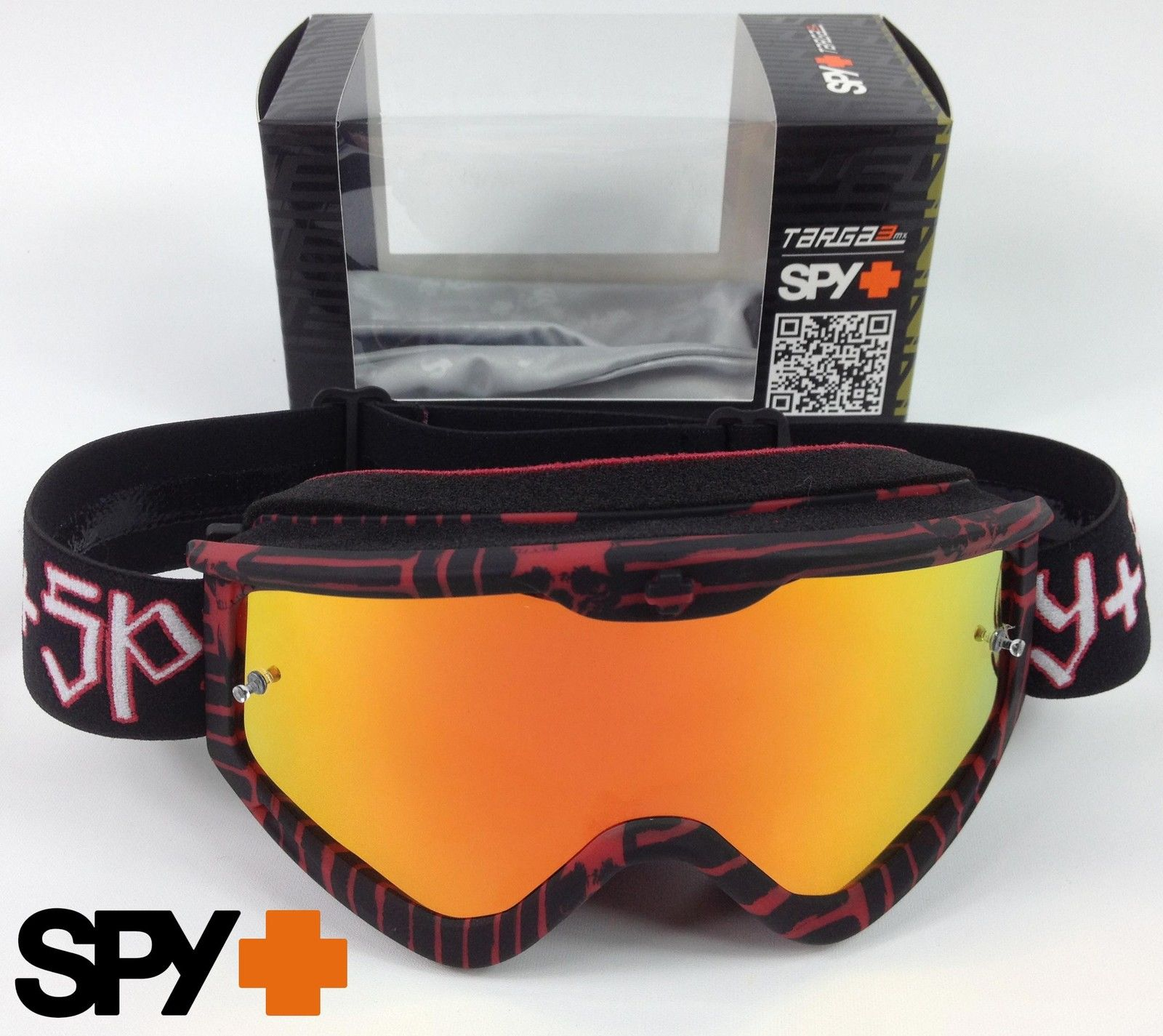 ALIAS RIOT MOTOCROSS MX GOGGLES RED with CLEAR TINT LENS spy bike tear off new