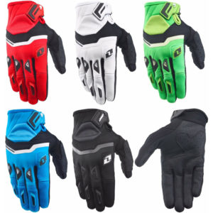 ONE INDUSTRIES GAMMA GLOVES BLACK RED WHITE GREEN BLUE