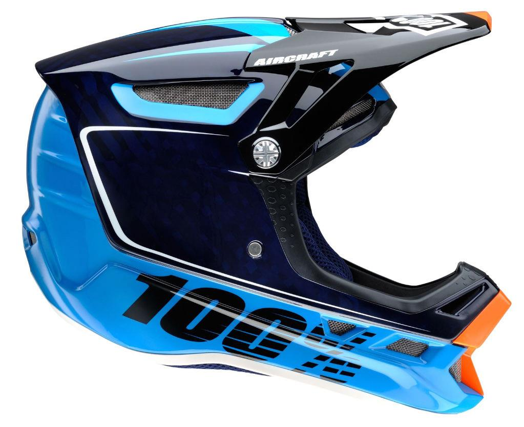 100 Aircraft Carbon Downhill Mtb Helmet Bi Turbo Blue
