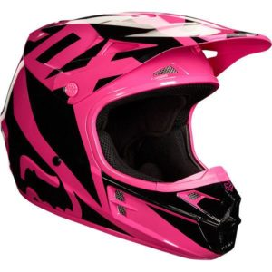 Fox V1 Motocross Helmet Race Pink