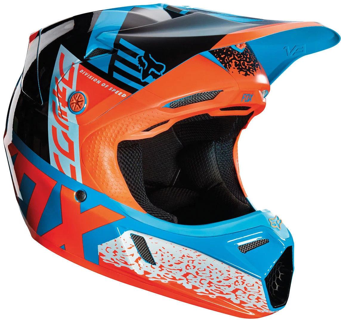 youth fox v3 division motocross mx helmet mips aqua. Black Bedroom Furniture Sets. Home Design Ideas