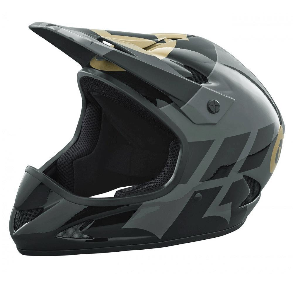 661 Rage Mtb Downhill Helmet Black Gold Matt