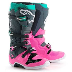 ALPINESTAR TECH 7 MOTOCROSS MX ENDURO BOOTS – LIMITED EDITION INDY VICE PINK