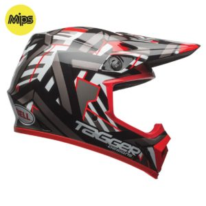 BELL MX-9 MIPS HELMET – TAGGER DOUBLE TROUBLE / BLACK / RED