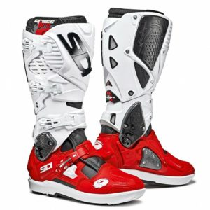 SIDI CROSSFIRE 3 SRS MOTOCROSS MX ENDURO BIKE BOOTS BLACK / RED/ WHITE