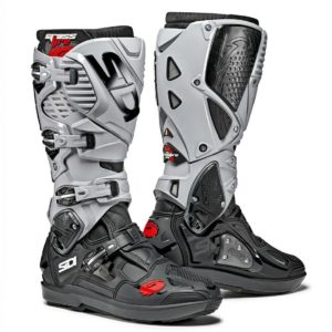SIDI CROSSFIRE 2 SRS MOTOCROSS MX ENDURO BIKE BOOTS BLACK / GREY EXCLUSIVE