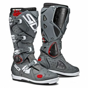 SIDI CROSSFIRE 2 SRS MOTOCROSS MX ENDURO BIKE BOOTS GREY / GREY