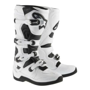 ALPINESTAR TECH 5 MOTOCROSS MX ENDURO BIKE BOOTS – WHITE / BLACK