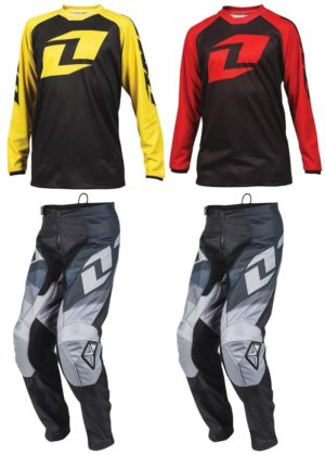 '2016 ONE INDUSTRIES YOUTH MOTOCROSS KIT BLACK ATOM PANTS / RAGLAN JERSEY kids'