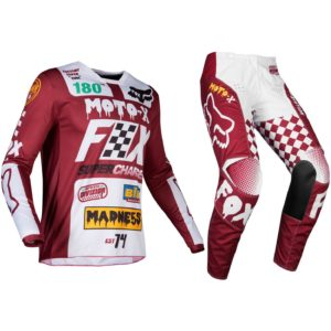 Fox Cardinal Red 180 Motocross Kit