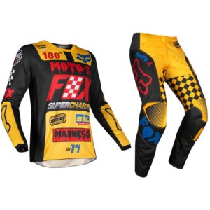YOUTH KIDS FOX RACING 180 MOTOCROSS MX KIT PANTS JERSEY - CZAR YELLOW BLACK