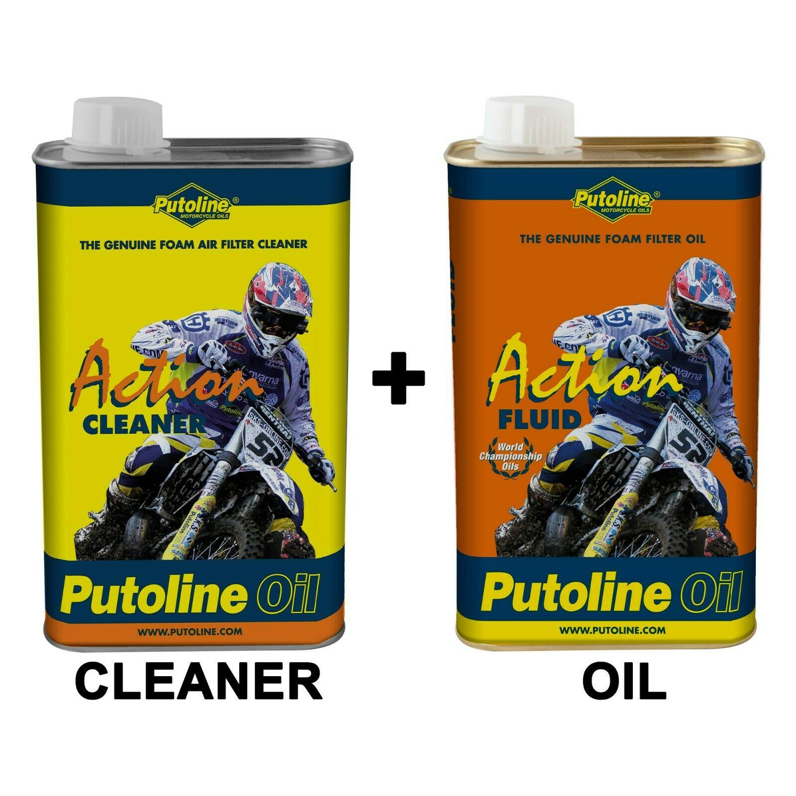 Putoline Foam Air Filter Cleaner 1L + Foam Filter Oil 1L motocross mx enduro