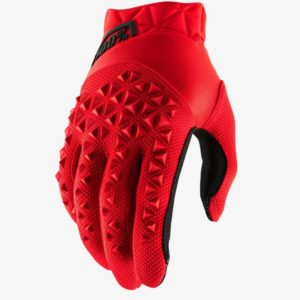 2019 YOUTH 100% AIRMATIC MOTOCROSS MX GLOVES RED / BLACK mtb kids quad bike