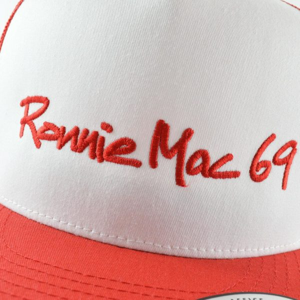 Officical Ronnie Mac 69 Trucker Cap Hat Snapback - Red White