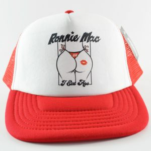 Official Ronnie Mac 69 I Eat Ass Trucker Cap Hat Snapback - White Red
