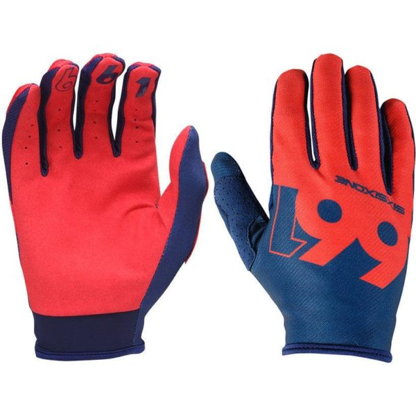 MENS 661 COMP SLICE MTB MOTOCROSS MX CYCLE BIKE GLOVES NAVY / RED