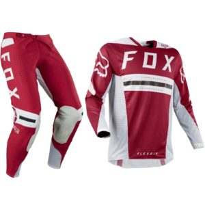 FOX RACING FLEXAIR MOTOCROSS MX KIT PANTS JERSEY - PREEST DARK RED
