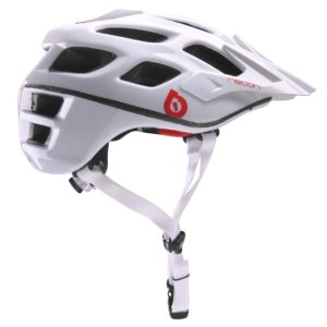 661 SIXSIXONE RECON SCOUT MTB HELMET CE – WHITE / RED