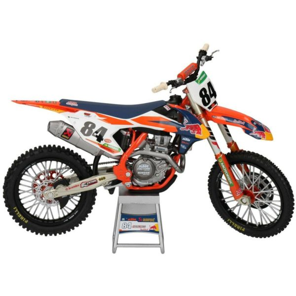 Jeffrey Herlings Red Bull KTM 450 SX-F 1:12 Motocross Mx Toy Model Bike New Ray