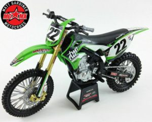 CHAD REED TWO TWO KAWASAKI KXF 450 - 1:12 DIE-CAST TOY MOTOCROSS BIKE NEW-RAY