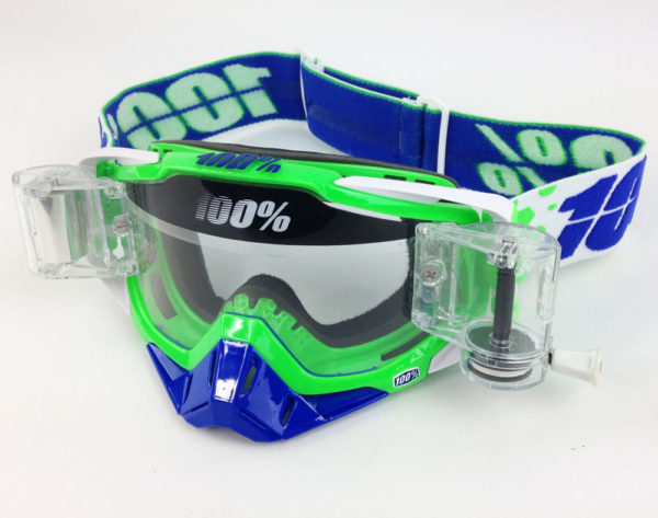 100% PERCENT RACECRAFT MOTOCROSS GOGGLES ALCHEMY with GSVS ROLL OFF SYSTEM