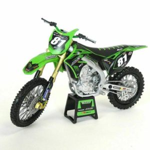 BUD RACING HSU TEAM KAWASAKI KXF 450 – 1:12 DIE-CAST TOY MOTOCROSS BIKE NEW-RAY