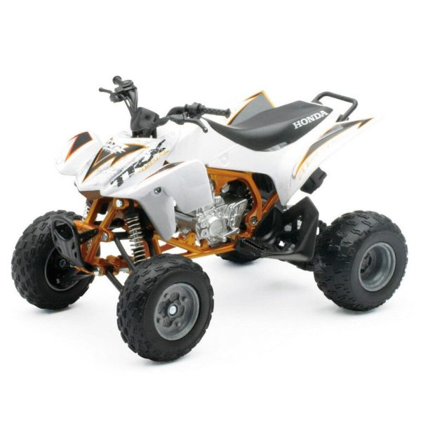 HONDA TRX450R 1:12 Die-Cast ATV QUAD Motorbike Toy Model Bike White New Ray