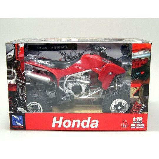 HONDA TRX450R 1:12 Die-Cast ATV QUAD Motorbike Toy Model Bike RED New Ray