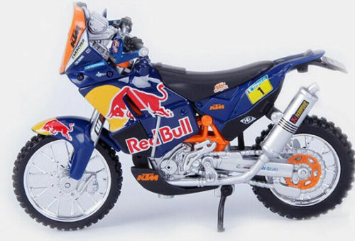 OFFICIAL REDBULL KTM 450 DAKAR RALLY 1:18 Die-Cast Motocross MX Toy Model Orange
