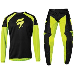 2020 SHIFT MX WHITE LABEL MOTOCROSS KIT PANTS JERSEY WHIT3 LABEL - FLO YELLOW
