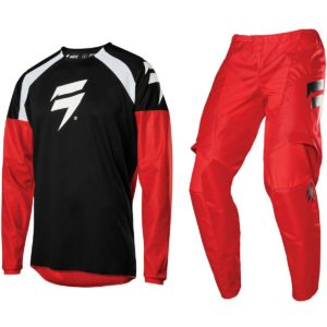 2020 SHIFT MX WHITE LABEL MOTOCROSS KIT PANTS JERSEY WHIT3 LABEL - RED / BLACK