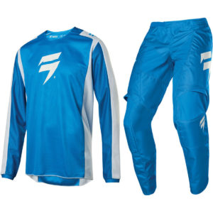 2020 SHIFT MX WHITE LABEL MOTOCROSS KIT PANTS JERSEY WHIT3 LABEL - BLUE / WHITE