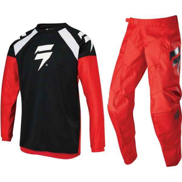 2020 YOUTH KIDS SHIFT MX MOTOCROSS KIT PANTS JERSEY WHIT3 LABEL - RED / BLACK