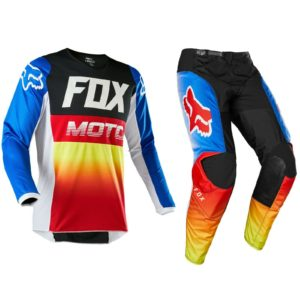 FOX RACING 180 MOTOCROSS KIT PANTS JERSEY – FYCE BLUE / RED