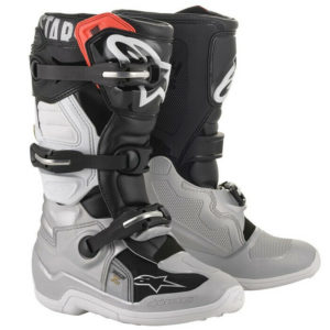 ALPINESTAR TECH 7S YOUTH MOTOCROSS MX BOOTS BLACK / SILVER / WHITE / GOLD kids