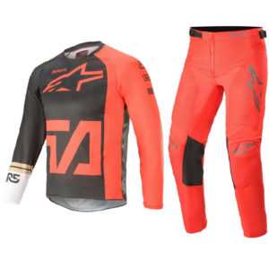 ALPINESTARS YOUTH MOTOCROSS KIT PANTS JERSEY – RACER COMPASS RED FLUO ANTHRACITE