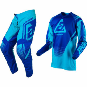 ANSWER SYNCRON MOTOCROSS MX KIT PANTS JERSEY - DRIFT ASTANA / REFLEX BLUE