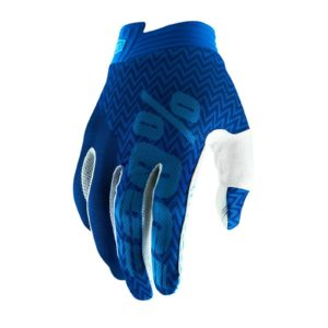 2019 100% ITRACK MOTOCROSS MX BIKE GLOVES - BLUE / NAVY