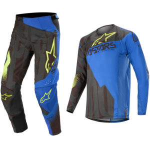 ALPINESTARS TECHSTAR MOTOCROSS MX PANTS JERSEY - FACTORY BLACK / BLUE / YELLOW